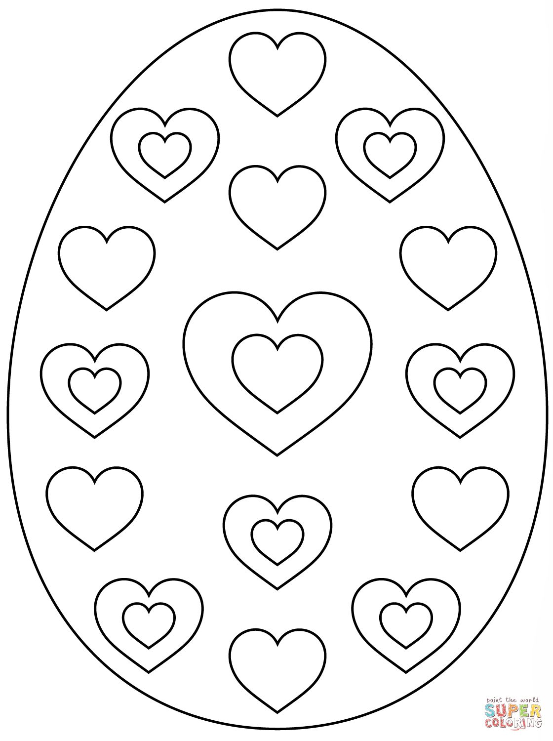 Easter Egg Colouring Pages 55