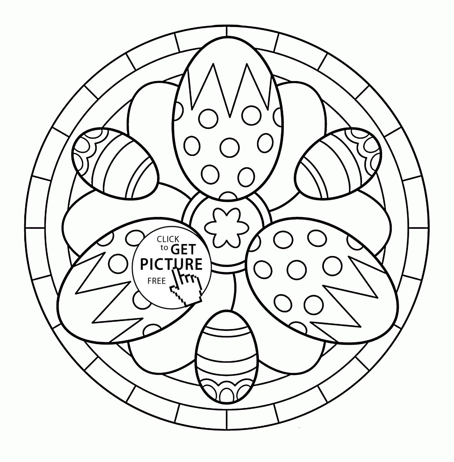 Easter Egg Colouring Pages 56