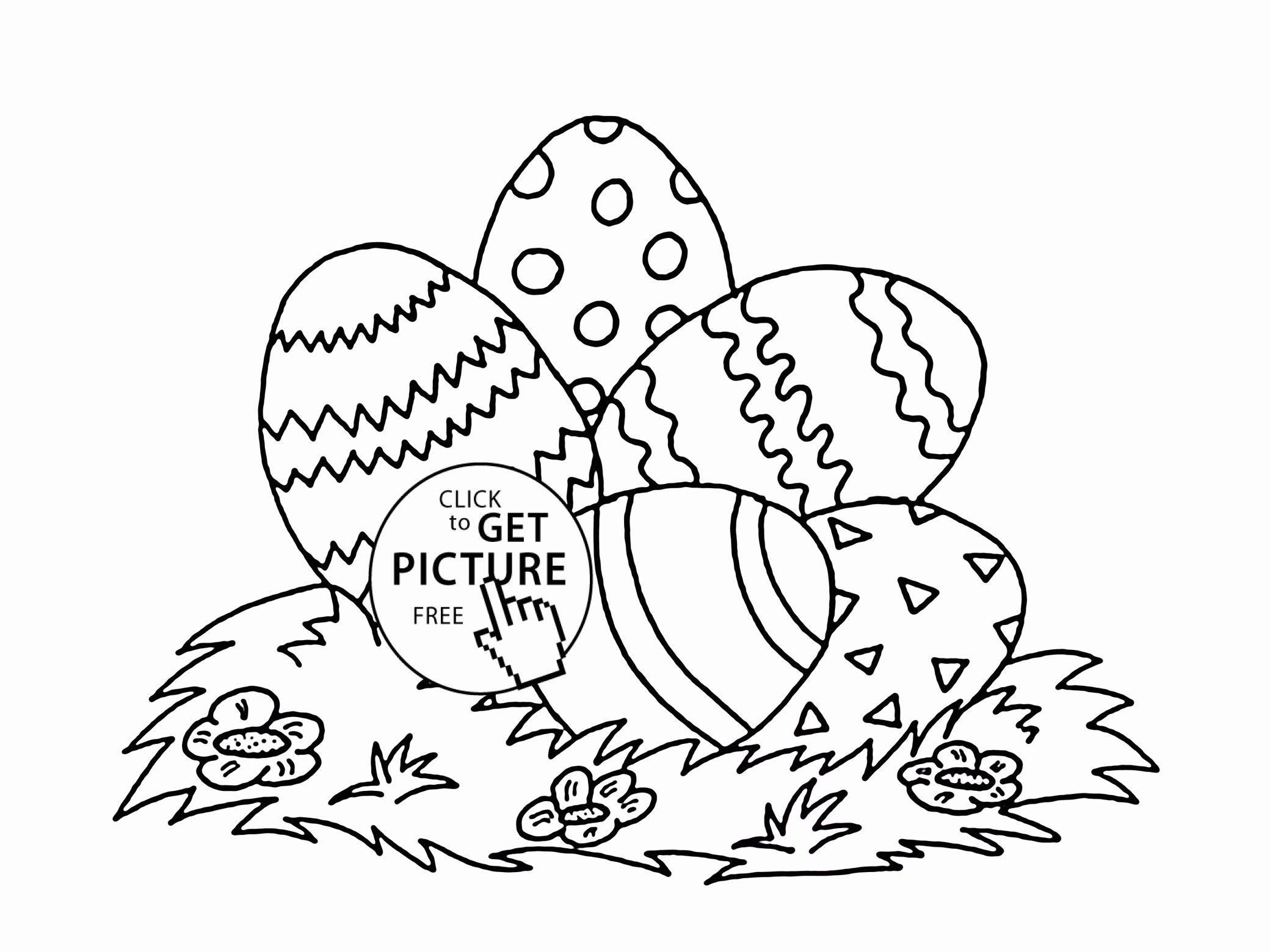 Easter Egg Colouring Pages Part 7
