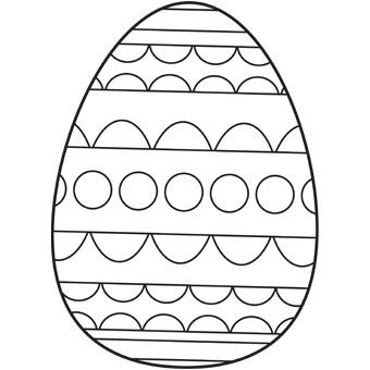Easter Egg Colouring Pages 68