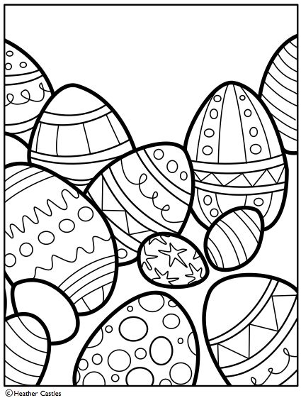 Easter Egg Colouring Pages 75