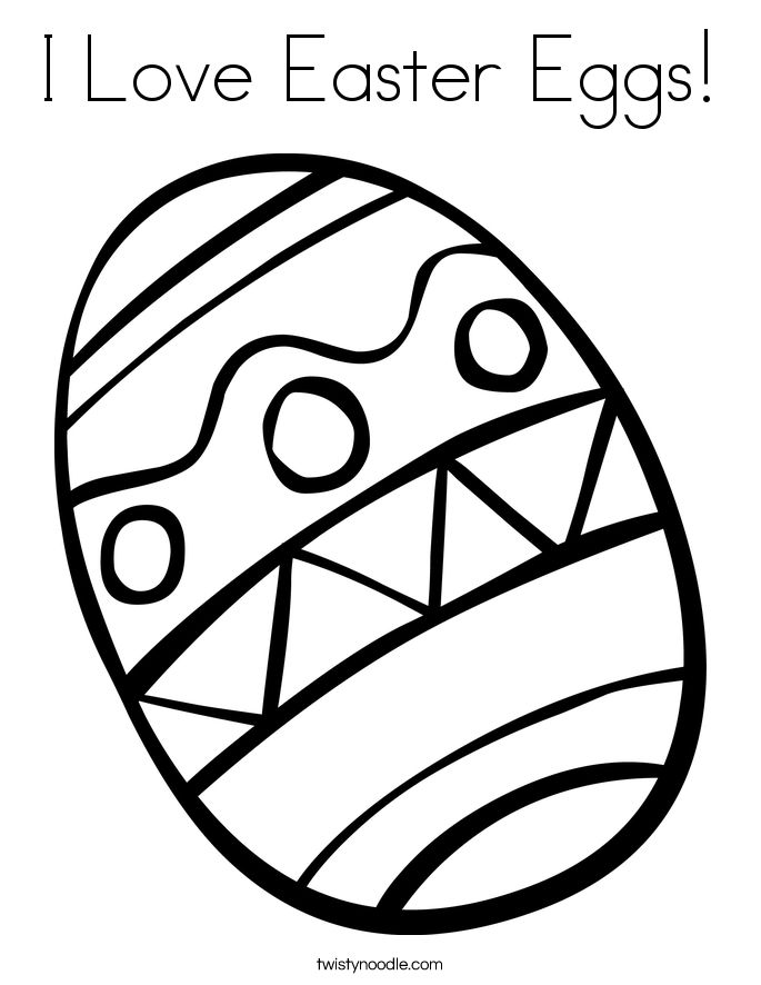 Easter Egg Colouring Pages 76