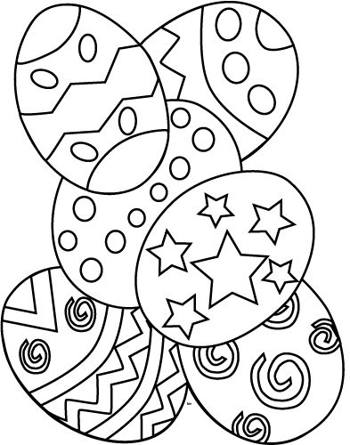 Easter Egg Colouring Pages 8