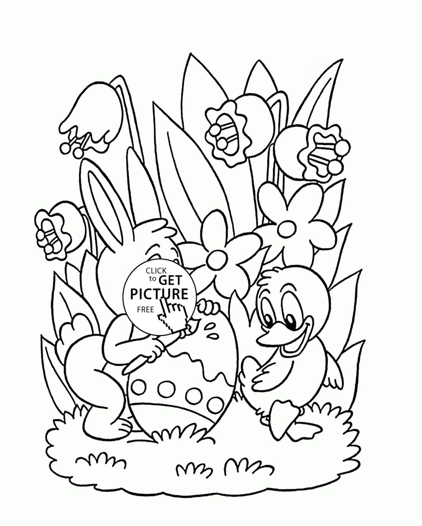 Easter Egg Colouring Pages 82