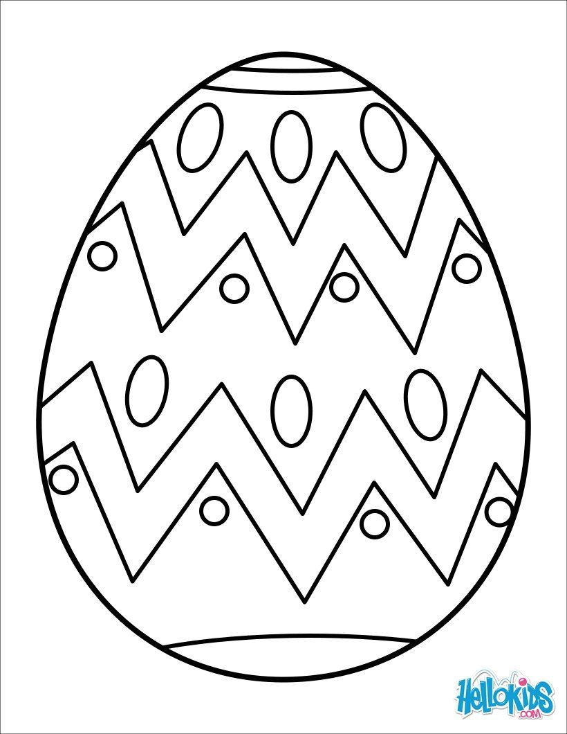 Easter Egg Colouring Pages 87