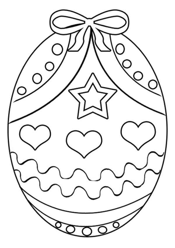 Easter Egg Colouring Pages 9