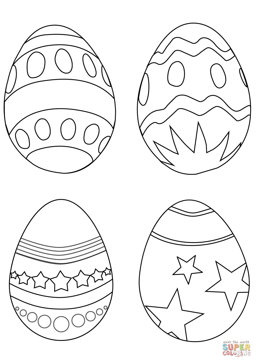 Easter Egg Colouring Pages 95