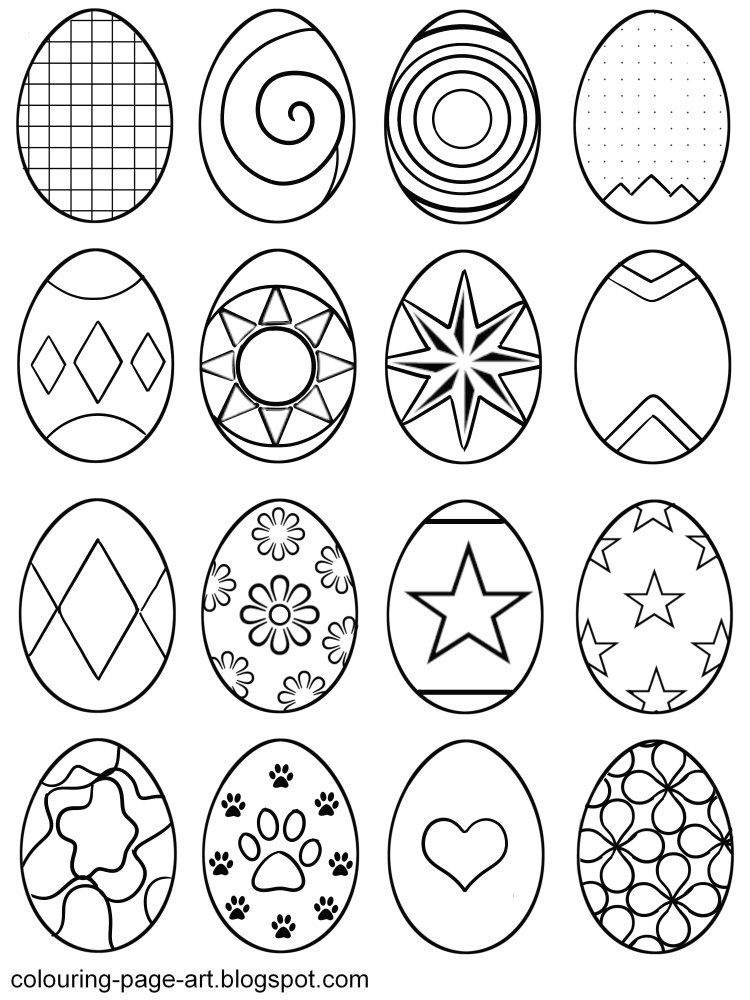 Easter Egg Colouring Pages 96