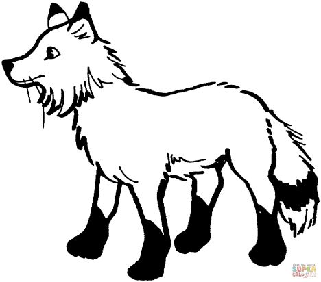 Fox Coloring Pages for Preschoolers 10