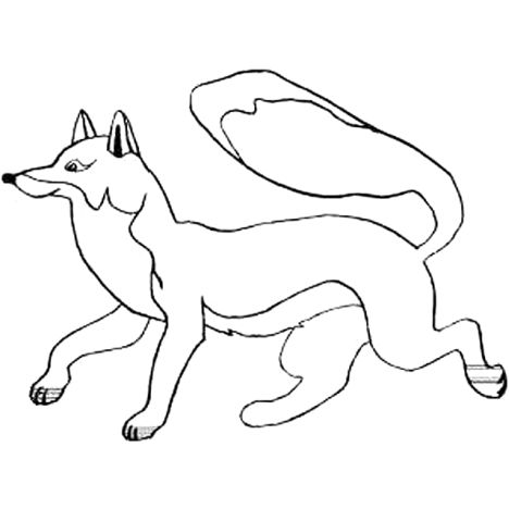 Fox Coloring Pages for Preschoolers 12
