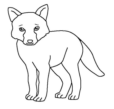 Fox Coloring Pages for Preschoolers 13