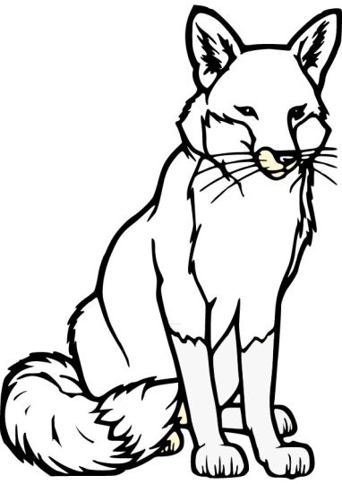 Fox Coloring Pages for Preschoolers 18