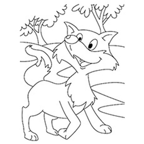 Fox Coloring Pages for Preschoolers 20
