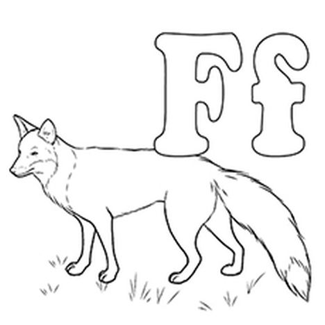 Fox Coloring Pages for Preschoolers 21