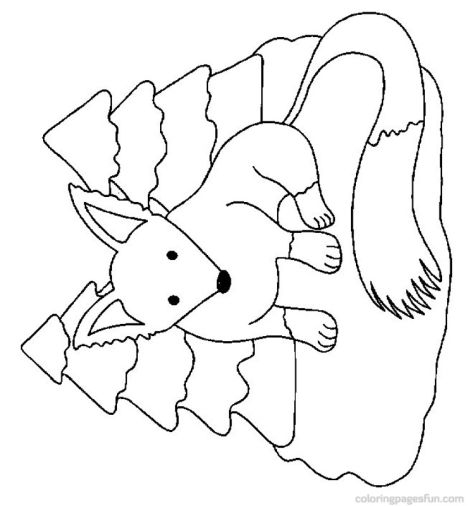Fox Coloring Pages for Preschoolers 27