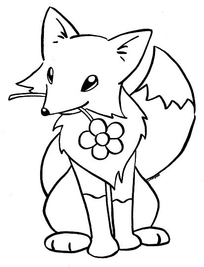 Fox Coloring Pages for Preschoolers 4