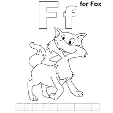 Fox Coloring Pages for Preschoolers 8