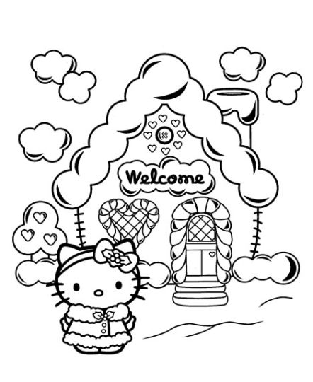 Hello Kitty Christmas Coloring Pages 10