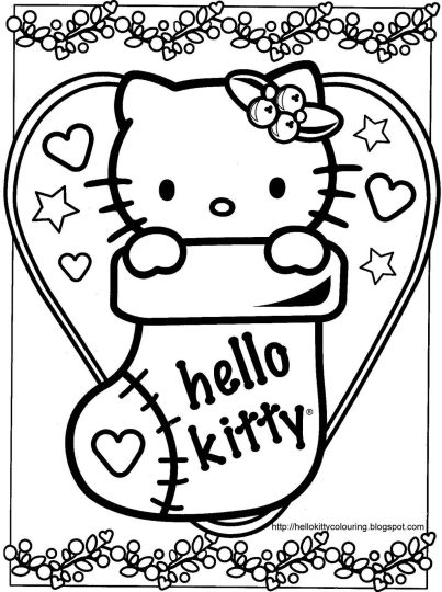 Hello Kitty Christmas Coloring Pages 13