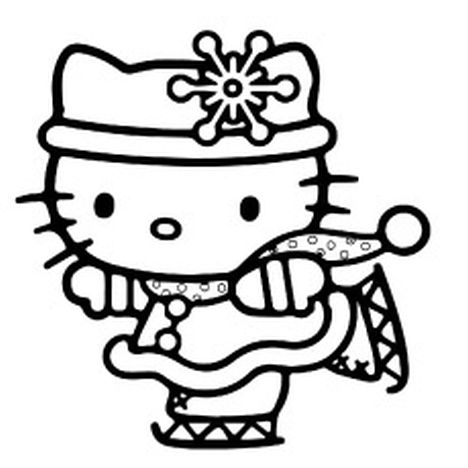 Hello Kitty Christmas Coloring Pages - Part 2