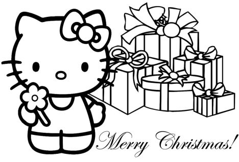 Hello Kitty Christmas Coloring Pages 15