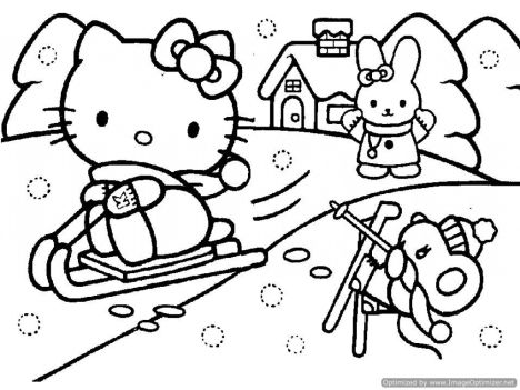 Hello Kitty Christmas Coloring Pages 16