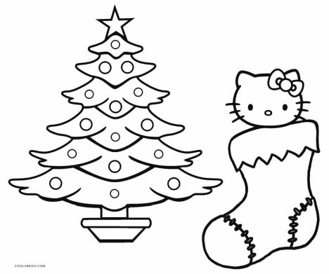 Hello Kitty Christmas Coloring Pages 17