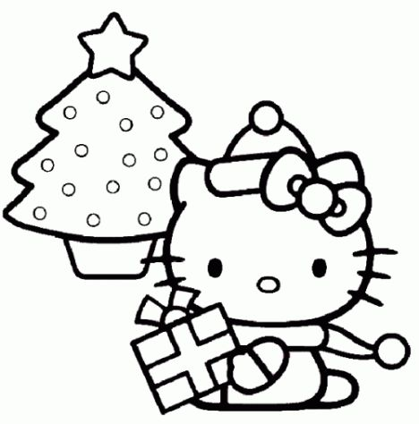 Hello Kitty Christmas Coloring Pages 18