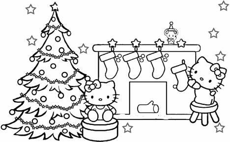 Hello Kitty Christmas Coloring Pages 19