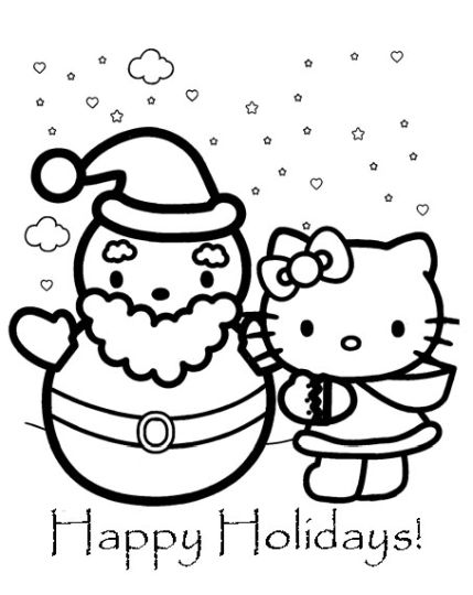 Hello Kitty Christmas Coloring Pages 20