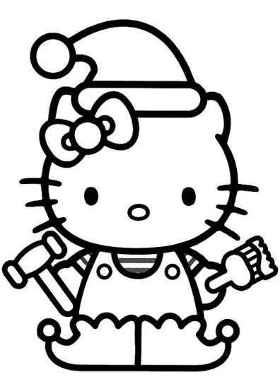 Hello Kitty Christmas Coloring Pages 21