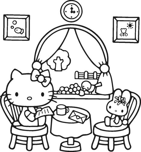 Hello Kitty Christmas Coloring Pages 22