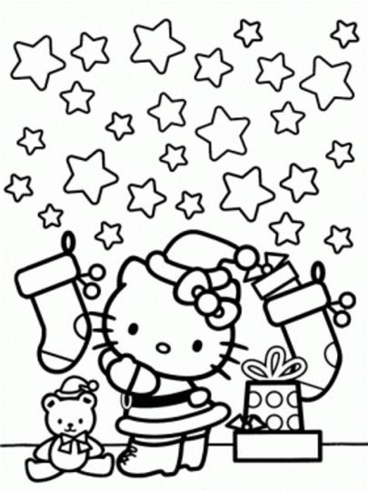 Hello Kitty Christmas Coloring Pages 24