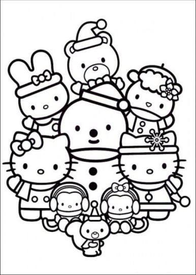 Hello Kitty Christmas Coloring Pages 25