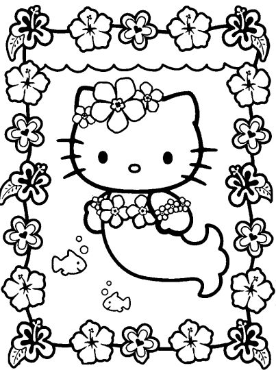 Hello Kitty Christmas Coloring Pages 26