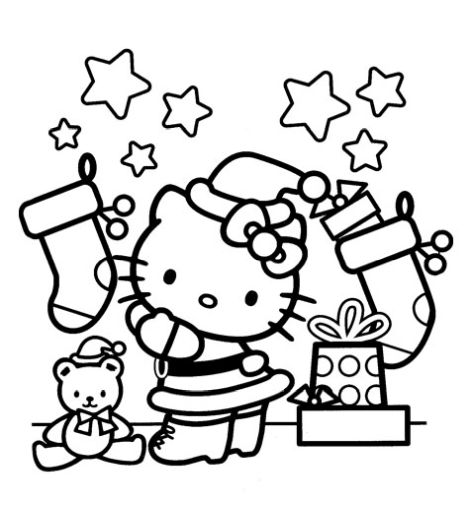 Hello Kitty Christmas Coloring Pages 27