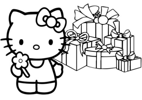 Hello Kitty Christmas Coloring Pages 28