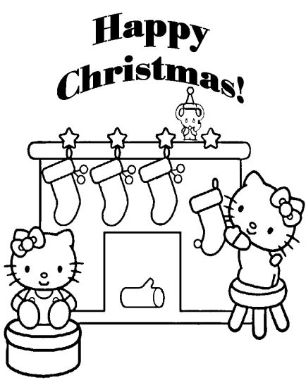 Hello Kitty Christmas Coloring Pages 29