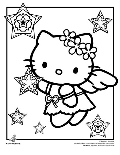 Hello Kitty Christmas Coloring Pages 3