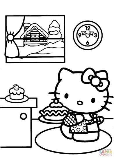 Hello Kitty Christmas Coloring Pages 30
