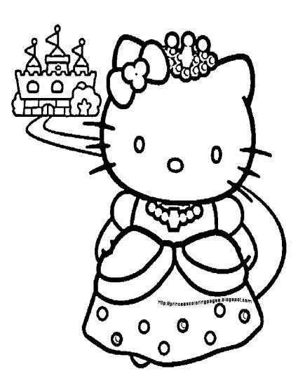 Hello Kitty Christmas Coloring Pages 34