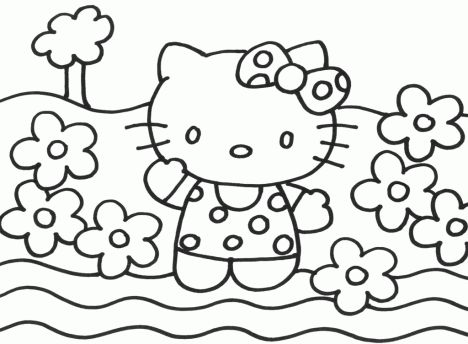 Hello Kitty Christmas Coloring Pages 35