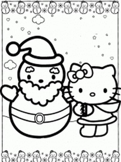Hello Kitty Christmas Coloring Pages 36