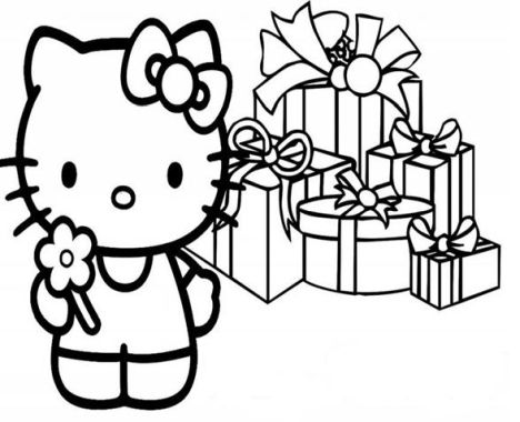 Hello Kitty Christmas Coloring Pages 37