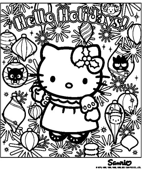Hello Kitty Christmas Coloring Pages 39