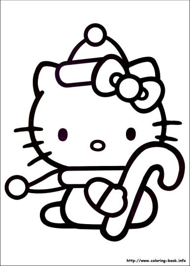 Hello Kitty Christmas Coloring Pages Part 1