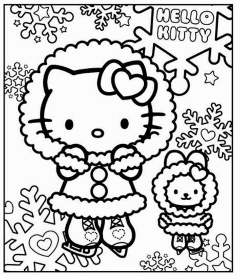 Hello Kitty Christmas Coloring Pages 40