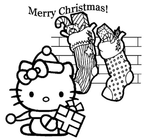 Hello Kitty Christmas Coloring Pages 5