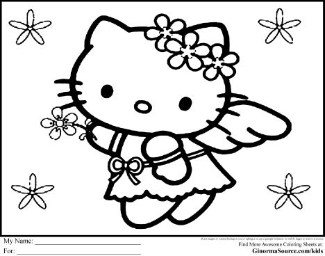Hello Kitty Christmas Coloring Pages 7