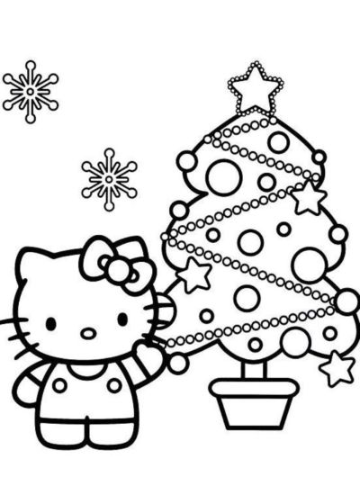Hello Kitty Christmas Coloring Pages 8